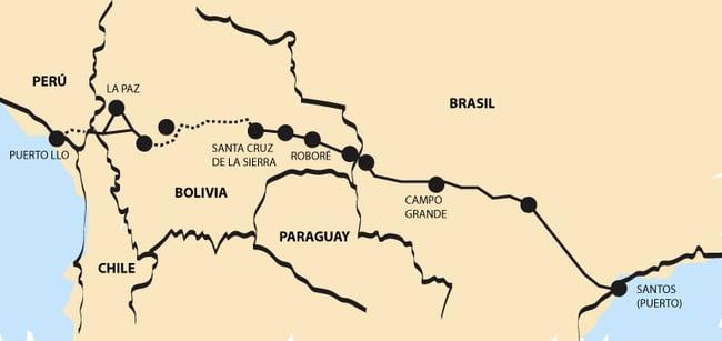 El proyecto del corredor ferroviario bioceánico Central