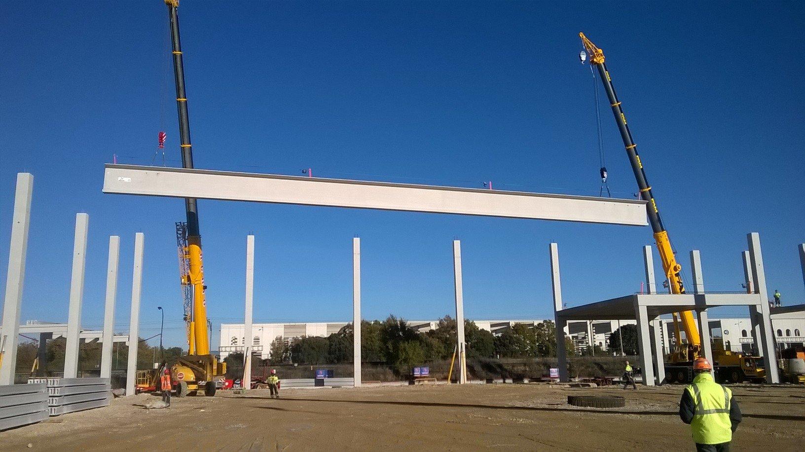 Ejemplo de construcción de estructura prefabricada