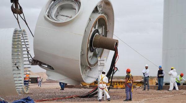 montaje de aerogeneradores