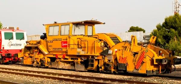 ferrocarril perfiladora de balasto