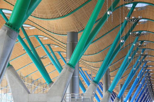 detalle de estructura aeropuerto