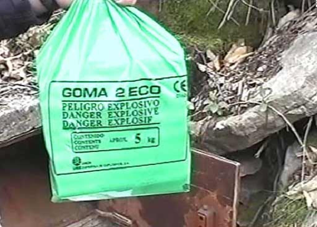 explosivo goma