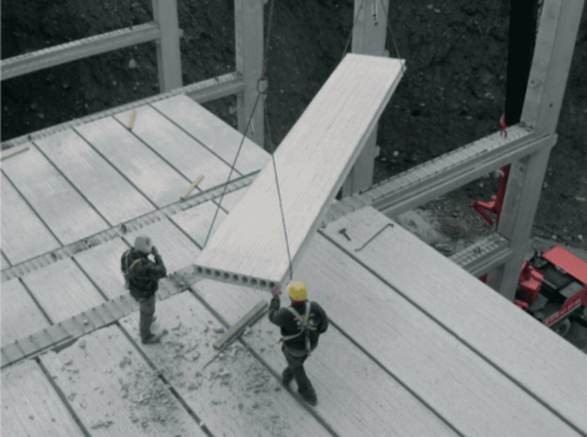 Losa de hormigón alveolar: la solución para forjados de edificios